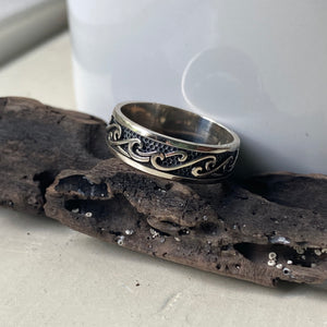 Sterling Silver Wave Band Ring
