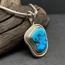 Sterling Silver Sleeping Beauty Turquoise Necklace by Navajo Artist