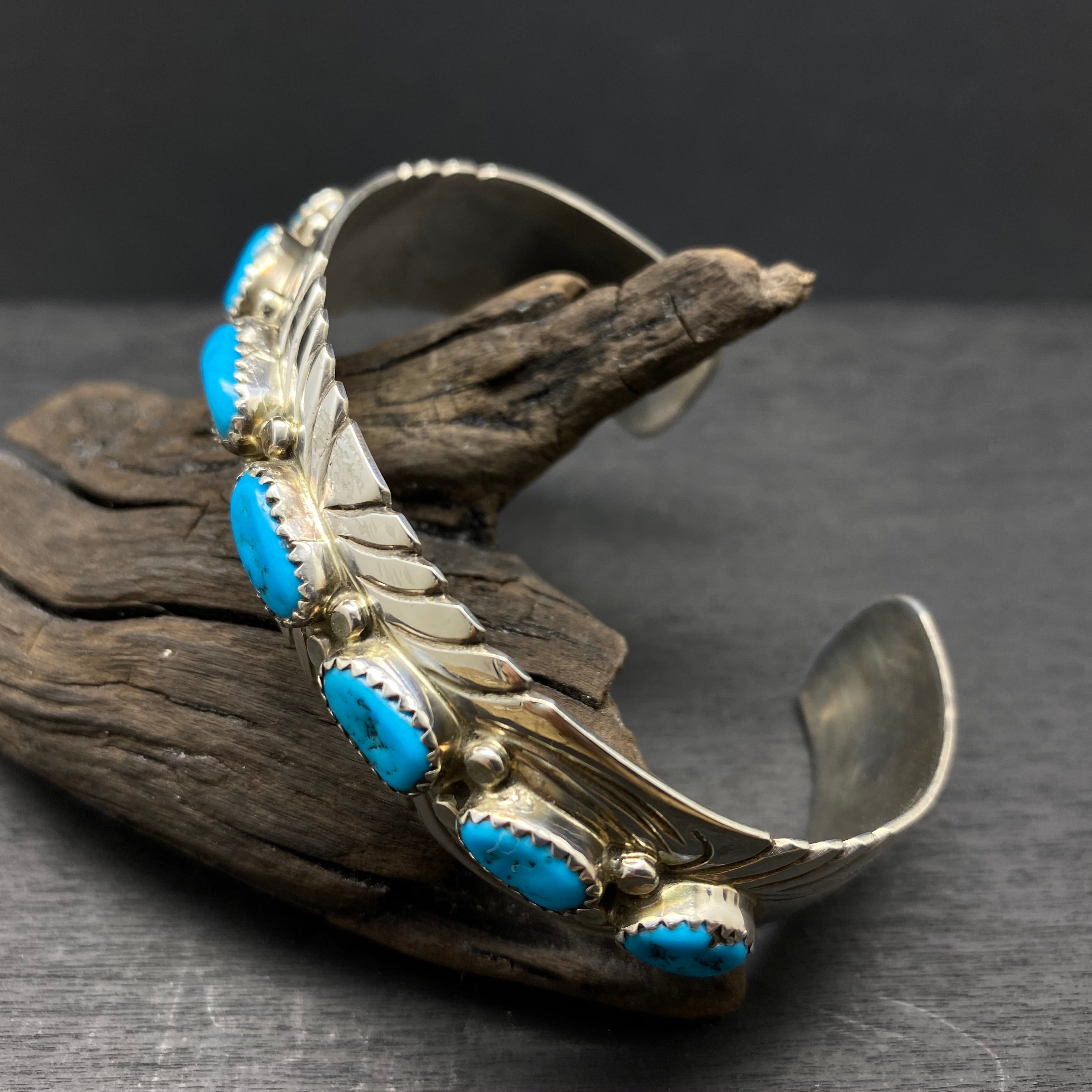 Sleeping Beauty Turquoise Sterling Silver Cuff Bracelet by Sarah Chee