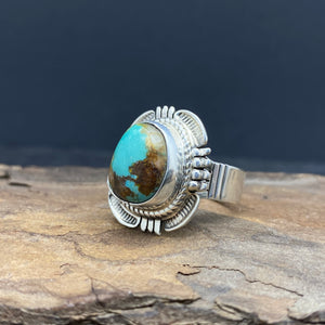 Sterling Silver Turquoise Ring by Bennie Ration