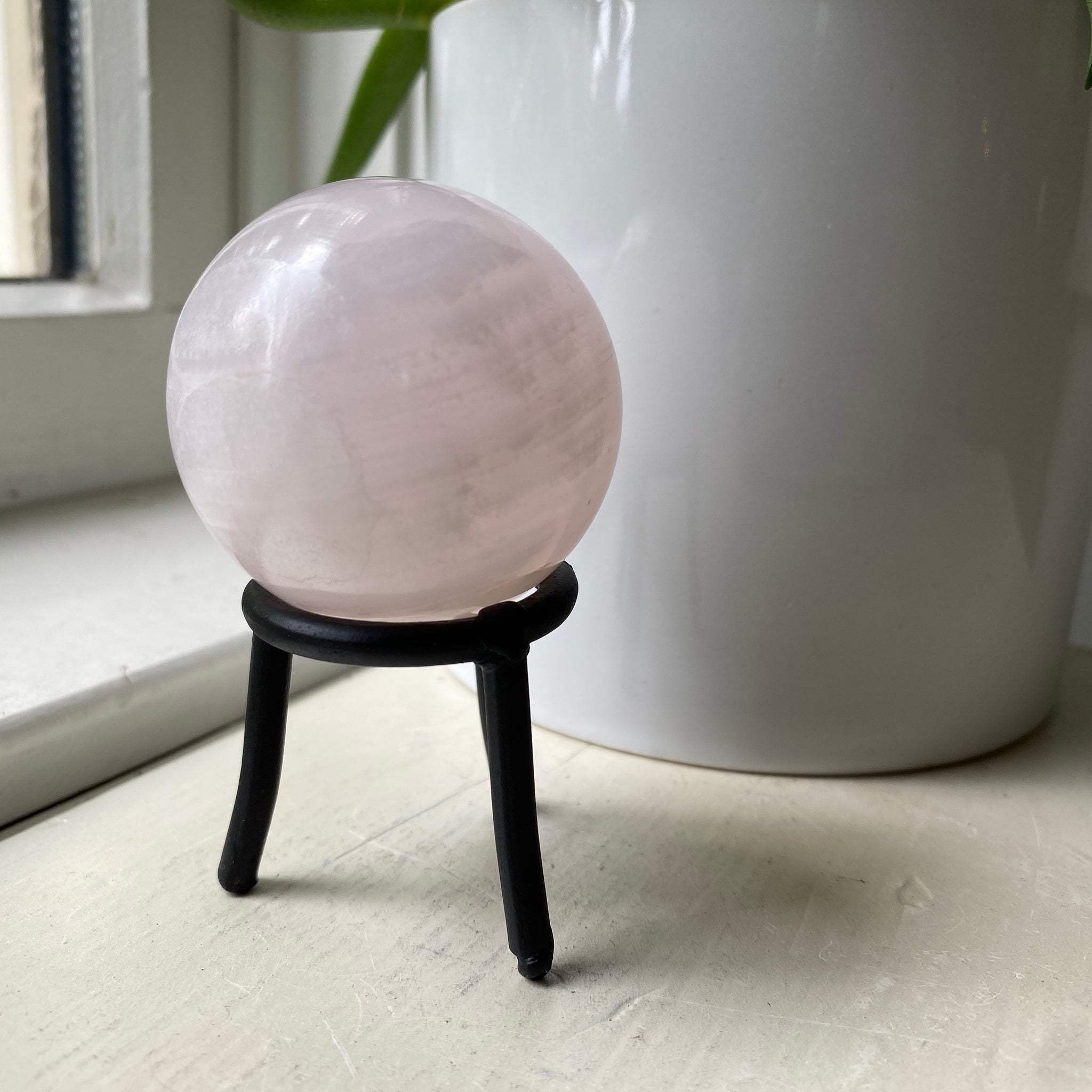 Pink Mangano Calcite Sphere Small