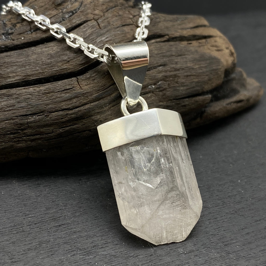 sterling silver danburite necklace