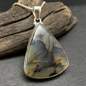 Sterling Silver Dendritic Agate Necklace