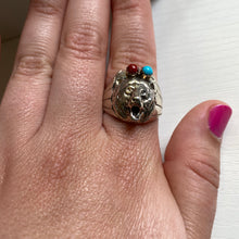 Sterling Silver Native American Made Bear Ring Size 12.5