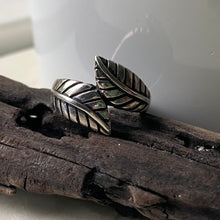 Sterling Silver Leaf Ring Size 8