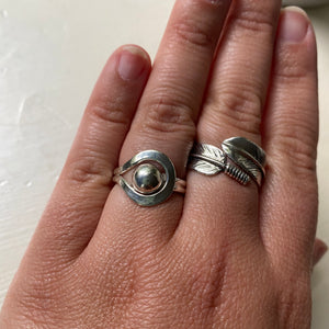 Sterling Silver Loop and Ball Ring