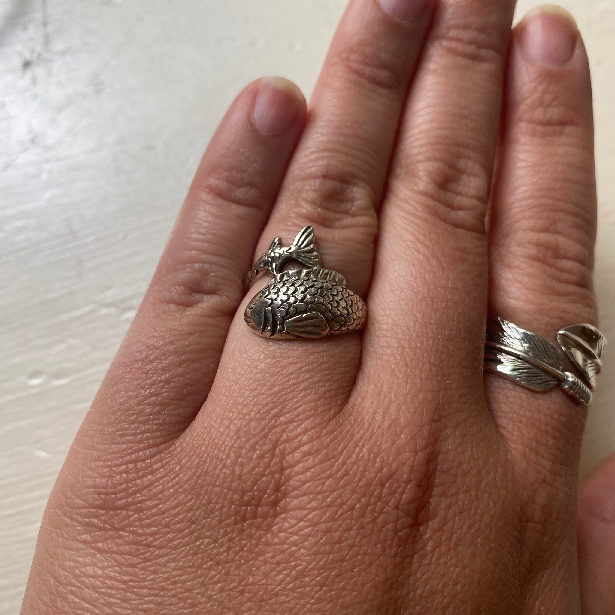 Sterling Silver Fish Ring