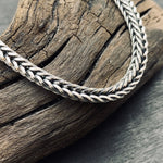Load image into Gallery viewer, Sterling Silver Oxidized 3.5 mm Square Foxtail Chain