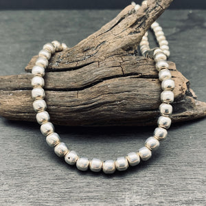 Sterling Silver Silver Bead Statement Necklace