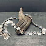 Load image into Gallery viewer, Sterling Silver Hammerd Circle Link Statement Necklace