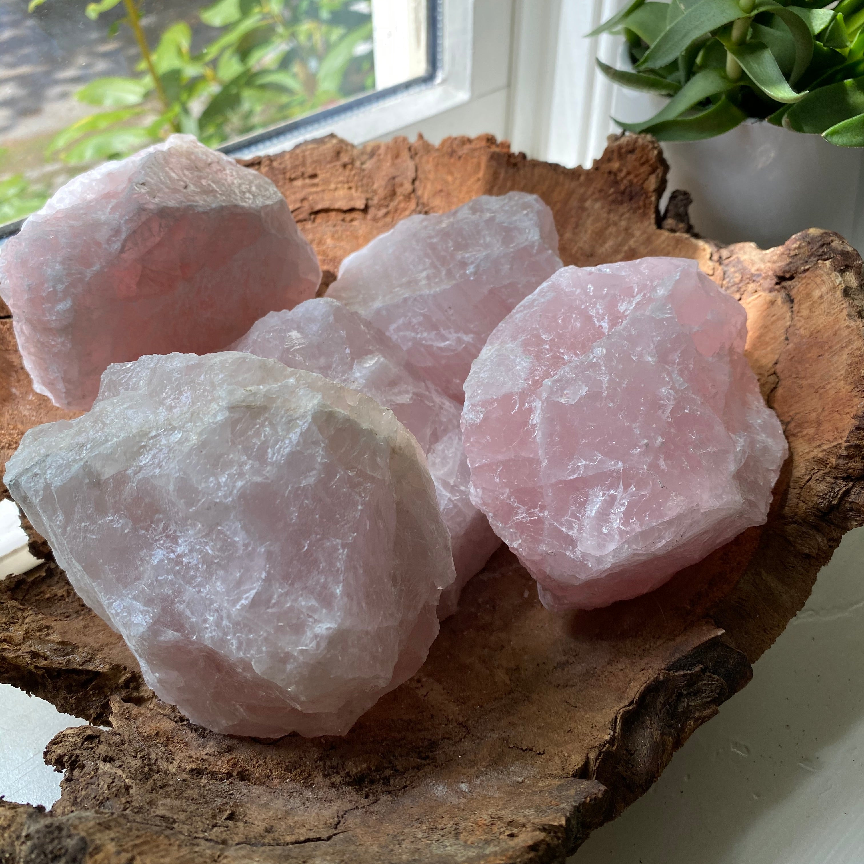 1.6 Lb to 1.13Lb Raw Rose Quartz Crystal Chunk