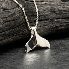 sterling silver whale Tail Necklace