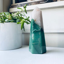 green aventurine quartz tower