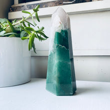 Green Aventurine + Clear Quartz Mix Tower