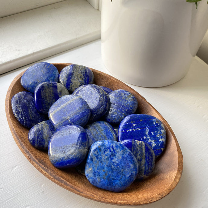 tumbled lapis worry stone fidget pocket stone