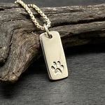 Load image into Gallery viewer, sterling silver paw print charm necklace