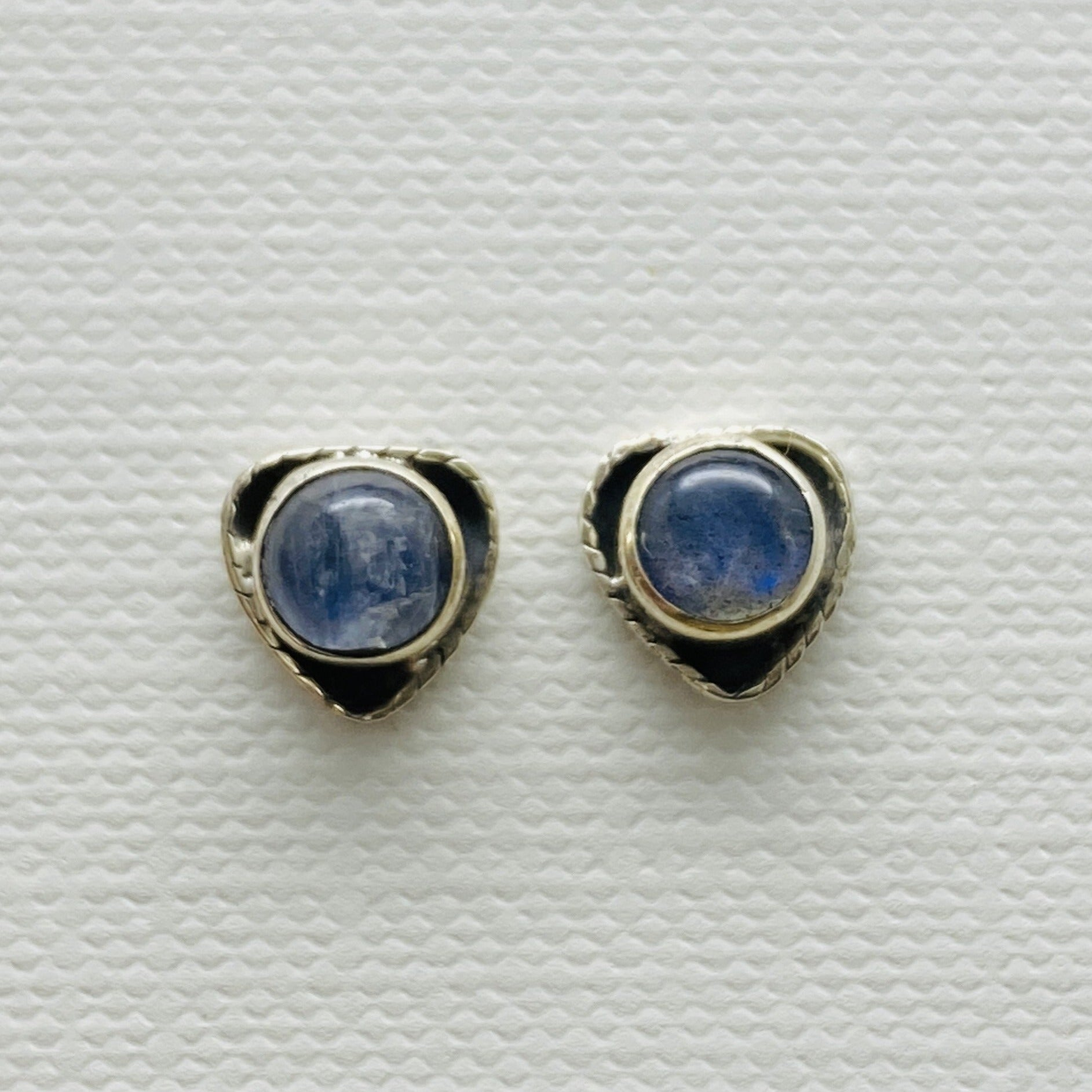 sterling silver moonstone stud post earrings