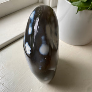 Orca Agate Free Form Tower