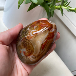 CLEARANCE Red Sardonyx Agate Large Palm Stone