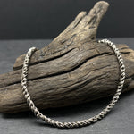 Load image into Gallery viewer, 2.2mm sterling silver oxidized reverse rope chain