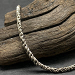 Load image into Gallery viewer, Sterling Silver Oxidized 2.2mm Reverse Rope Chain