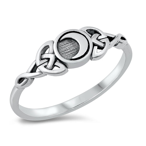sterling silver celtic moon ring