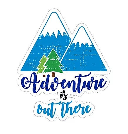 Adventure is Out There Mountains Vinyl Sticker