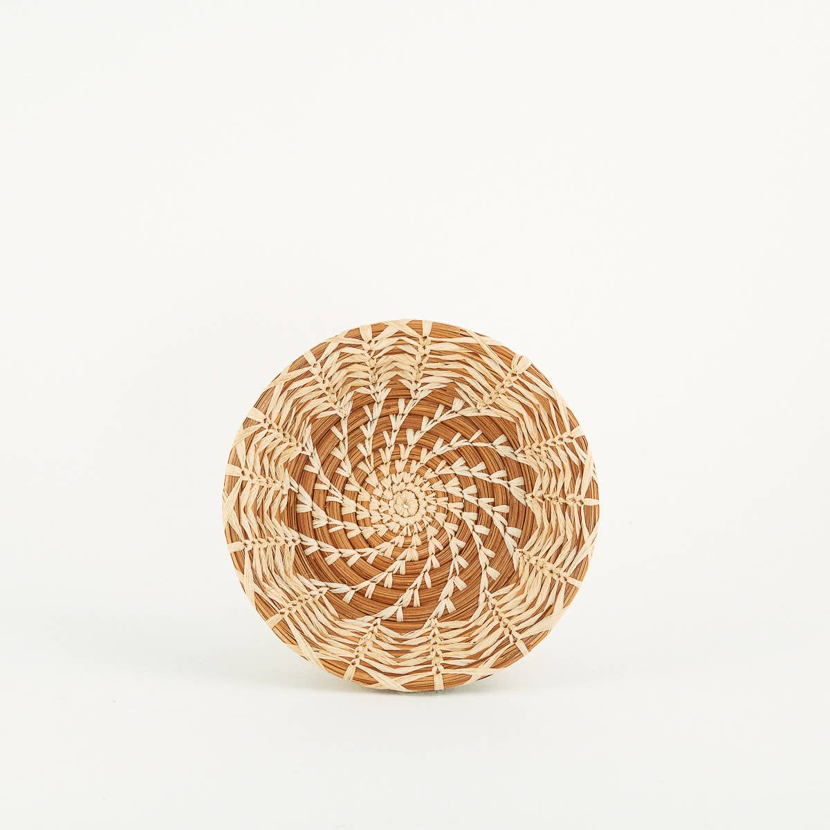 fair trade pajon grass, pine needle and raffia hand woven basket wall hanging