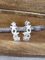 Load image into Gallery viewer, Sterling Silver Starfish Hoop Earrings