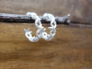 Sterling Silver Starfish Hoop Earrings