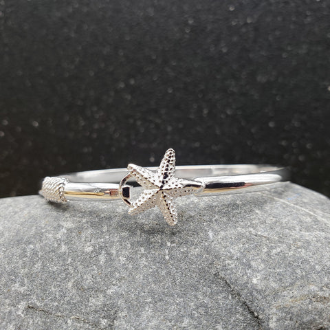Sterling Silver Starfish Hook Bracelet