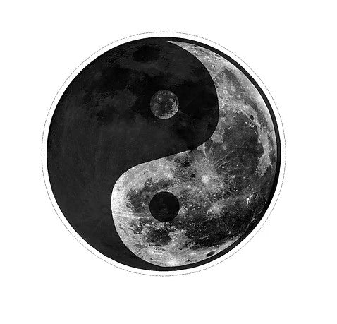 yin yang moon vinyl waterproof sticker