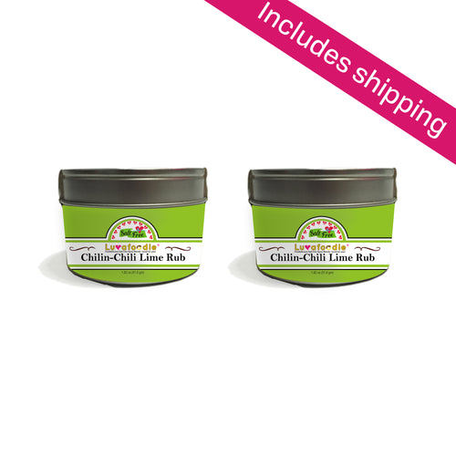 Luvafoodie Chilin Chili-Lime Rub (2 Pack)