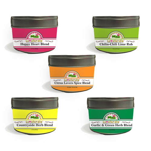 New Five Pieces Luvafoodie Salt Free Spice Collection