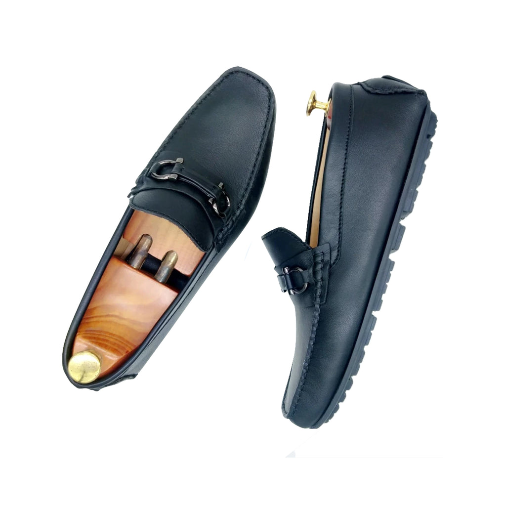 BLACK NAPPA LOAFERS