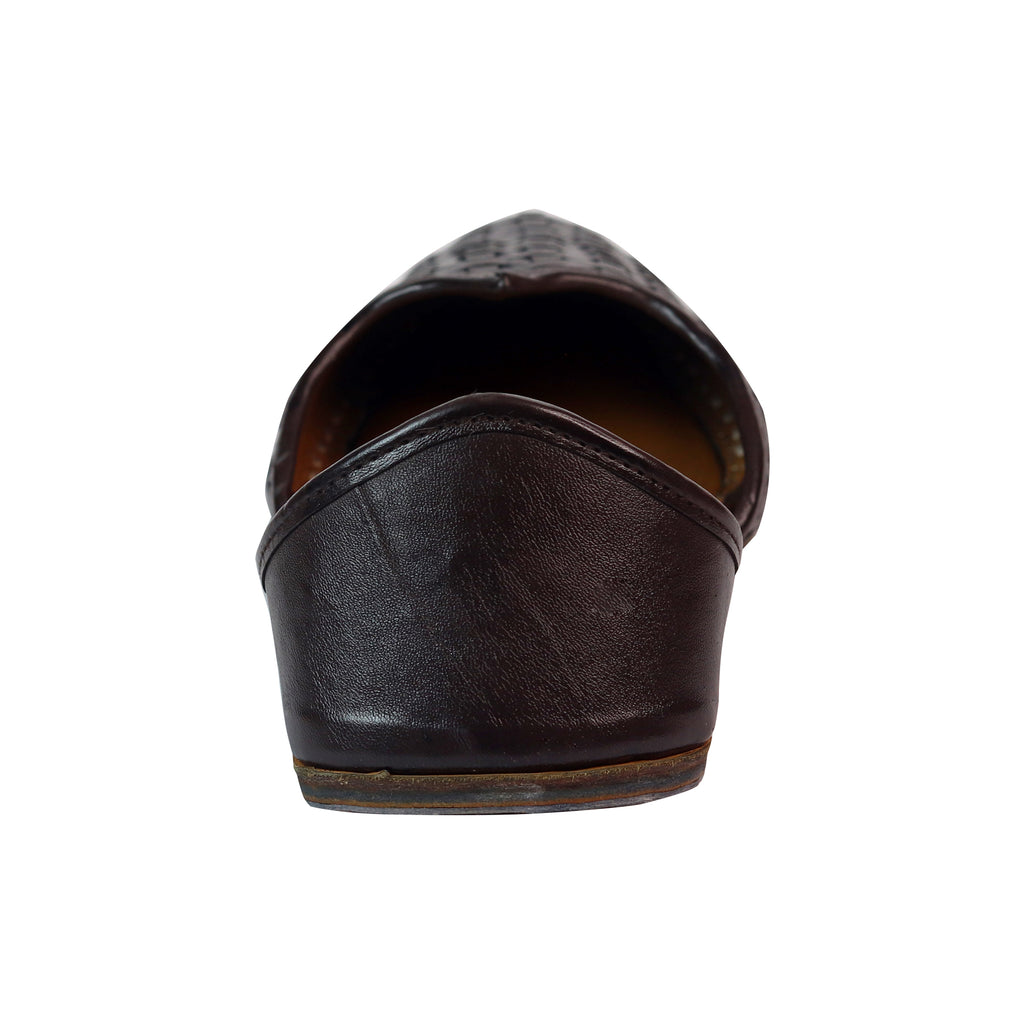 Dark Brown Handcrafted Pure Leather Jutti