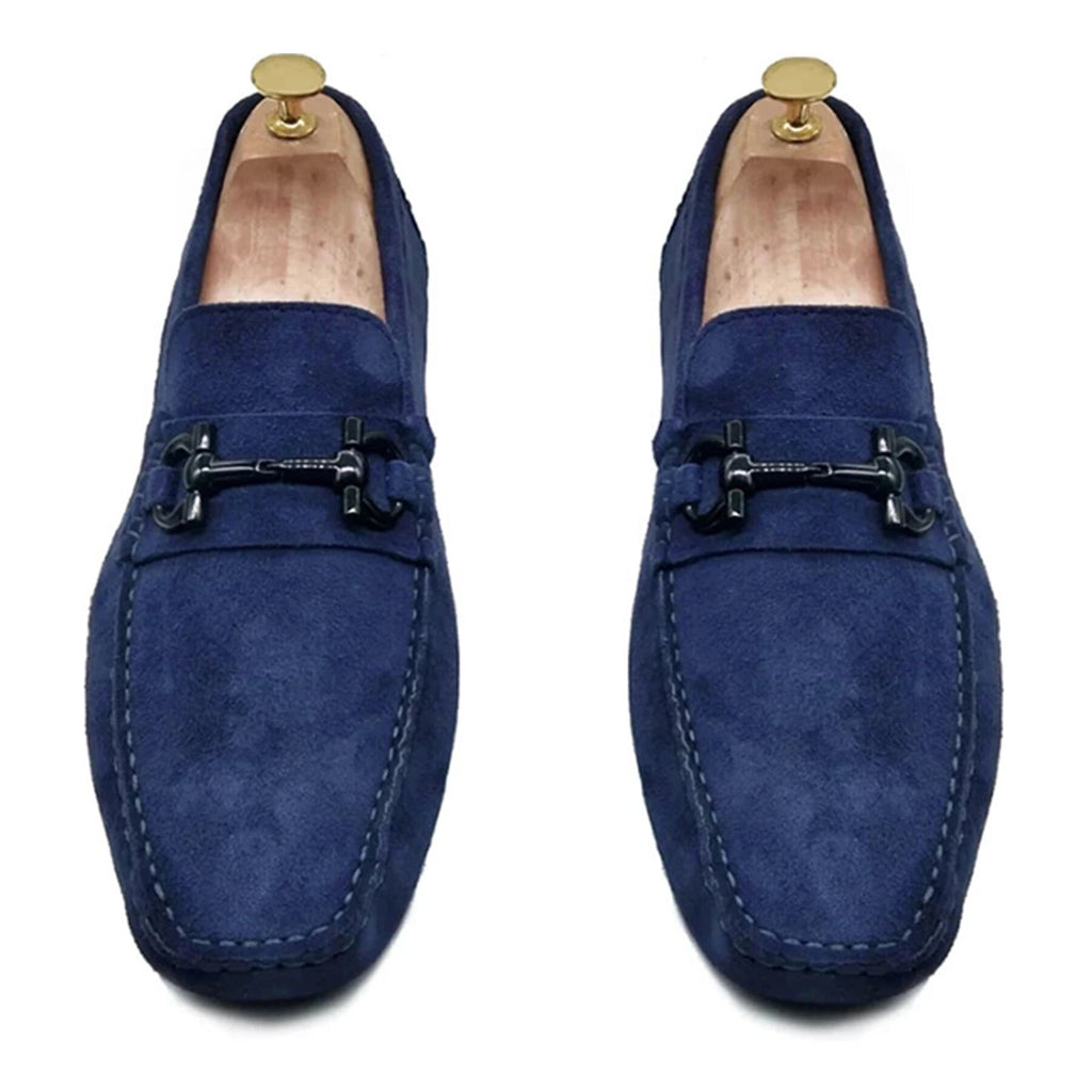 NAVY SUEDE CLASSIC DRIVING LOAFER