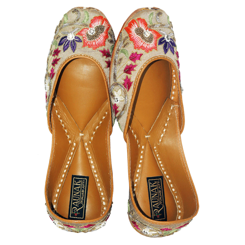 Golden Multi leather Jutti