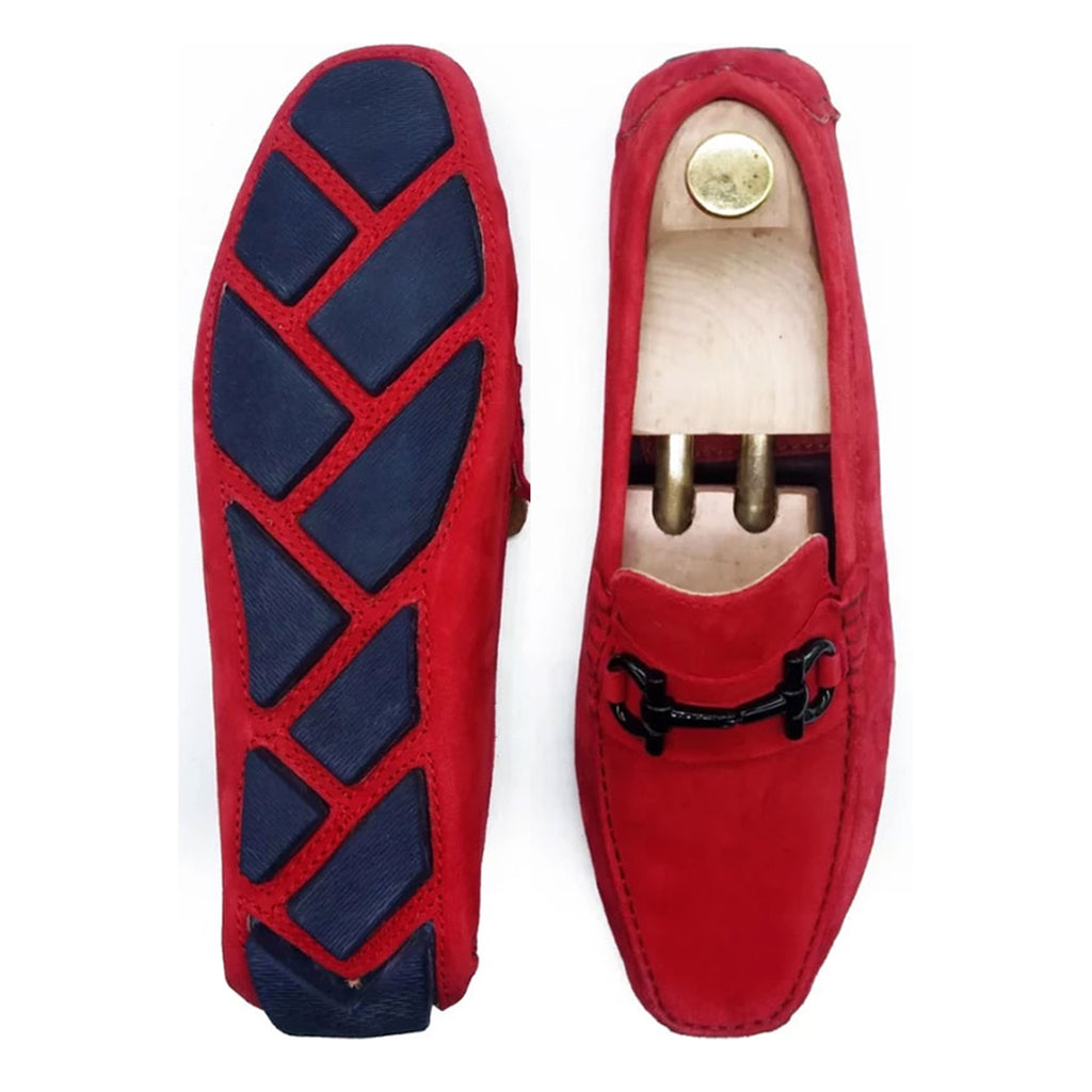 RED SUEDE CLASSIC LOAFER