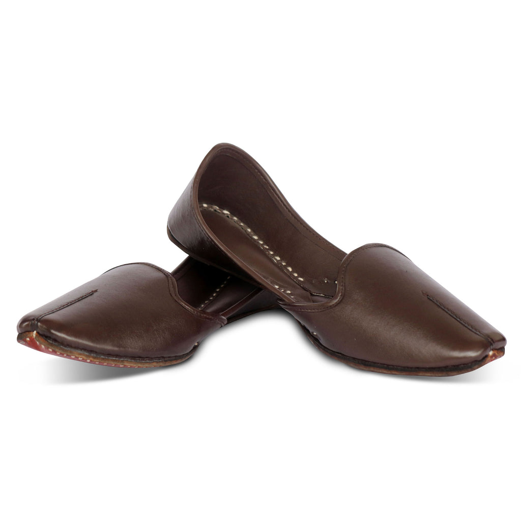 Royal Brown Leather Jutti