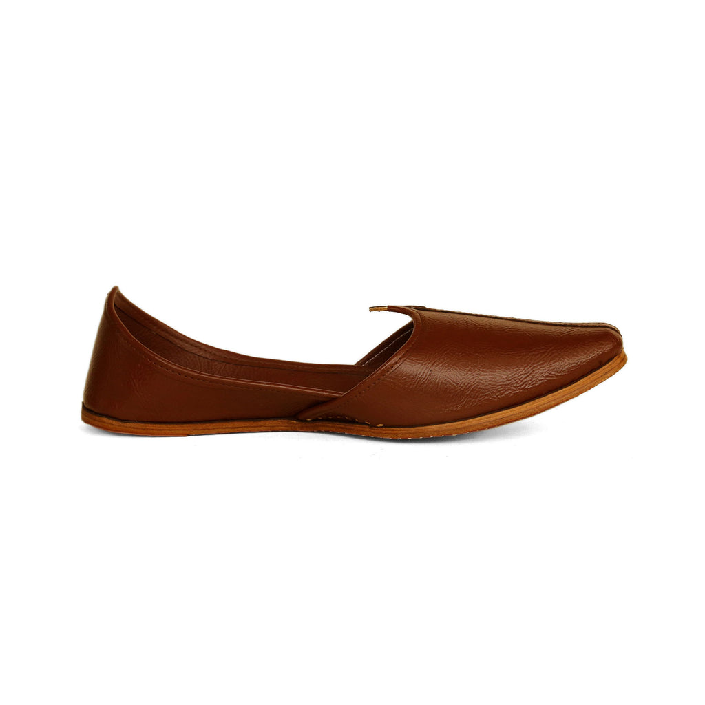 Royal Brown Pure Leather Jutti
