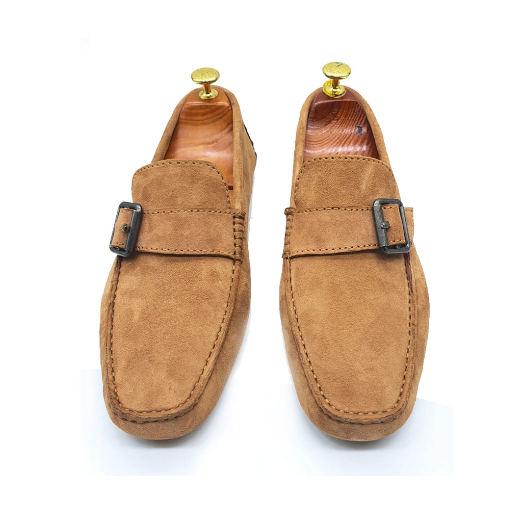 SUEDE DRIVING SHOES TAN BEIGE