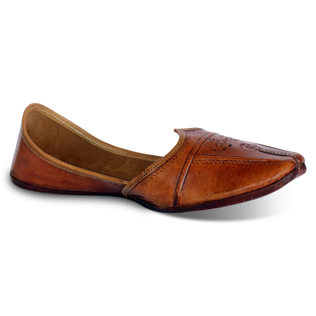 Brown Leather Punjabi Jutti