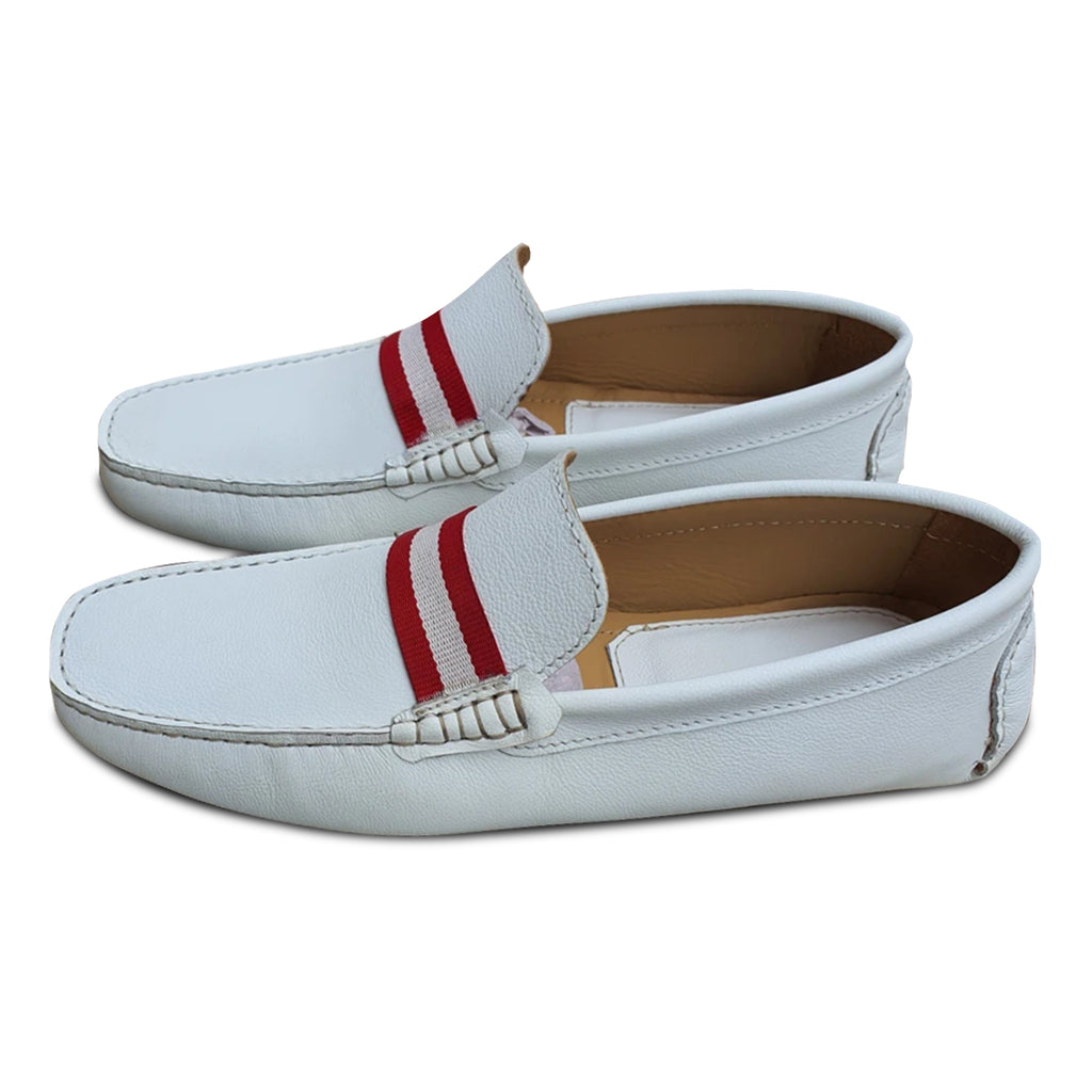 WHITE NAPPA LOAFERS