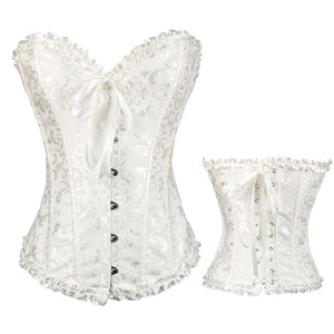 Corset with Bow Trim
