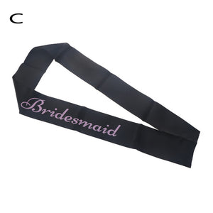 Black Hen Party Sashes