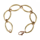 14 Karat Yellow and Rose Gold Bracelet