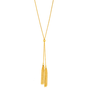 14 Karat Yellow Gold Fringe Necklace