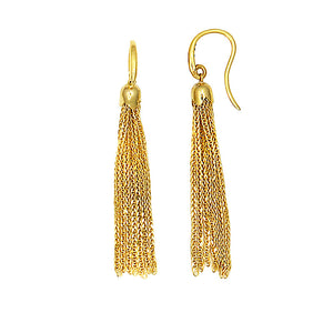 14 Karat Yellow Gold Fringe Earrings