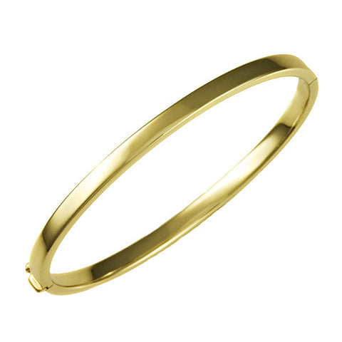 14 Karat Yellow Gold 4mm Bangle Bracelet
